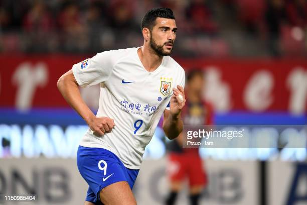 Graziano Pelle of Shandong Luneng in action during the AFC Champions League Group E match between Kashima Antlers and Shandong Luneng at Kashima...