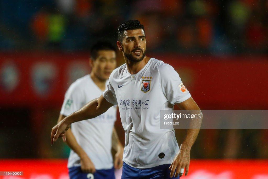 2019 China Super League - Beijing Renhe v Shandong Luneng : News Photo