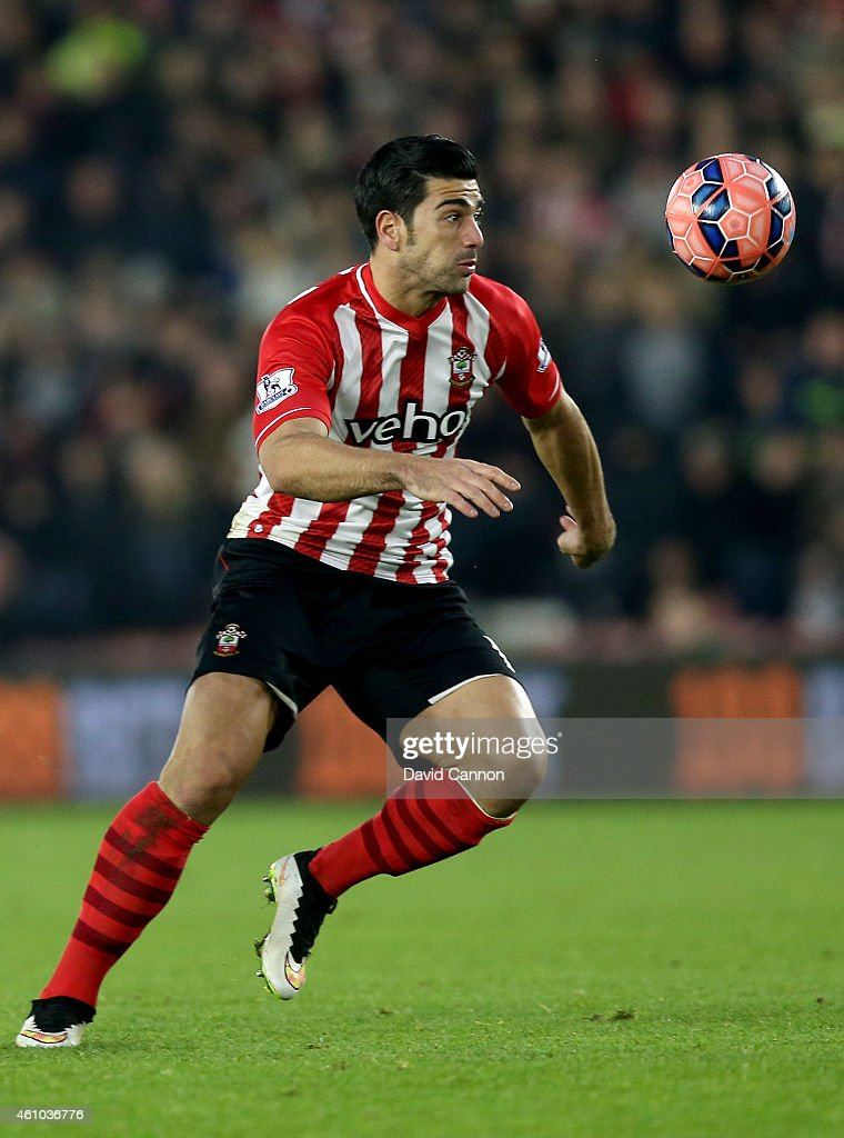 Graziano Pelle of Southampton during the FA Cup Third Round match between Southampton and Ipswich Town at St Mary's Stadium on January 4, 2015 in Southampton, England.