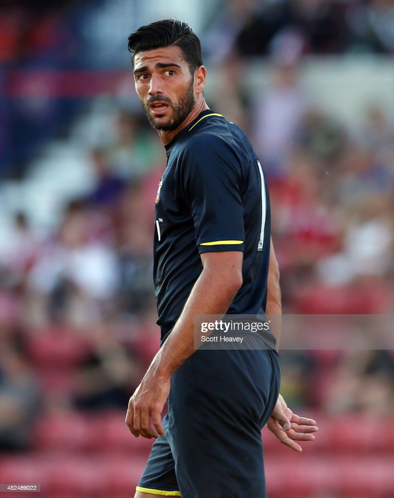 Graziano Pelle of Southampton during the Pre Season Friendly between Swindon Town and Southampton on July 21, 2014 in Swindon, England.