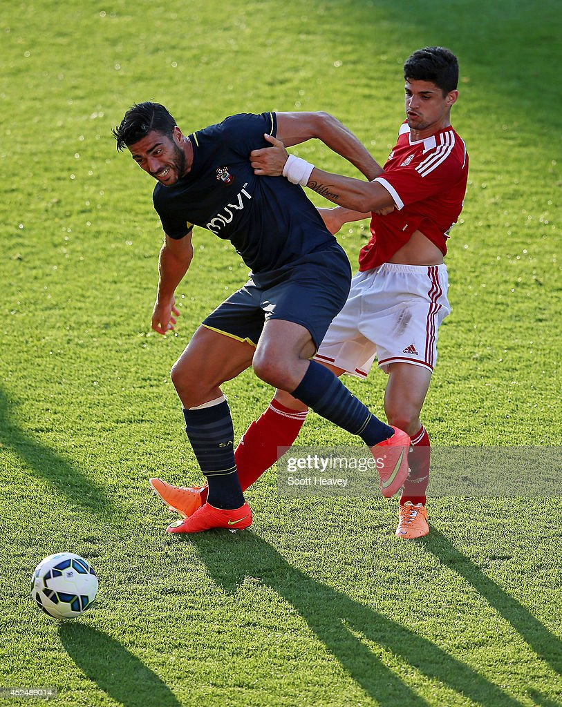 Graziano Pelle of Southampton in action during the Pre Season Friendly between Swindon Town and Southampton on July 21, 2014 in Swindon, England.