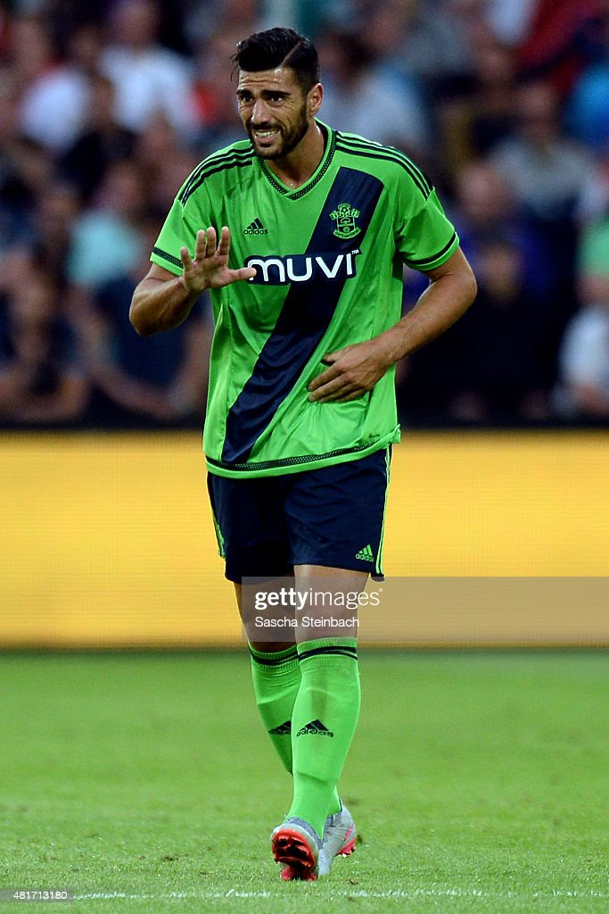 Graziano Pelle of Southampton reacts during the pre season friendly match between Feyenoord Rotterdam and Southampton FC at De Kuip on July 23, 2015 in Rotterdam, Netherlands.