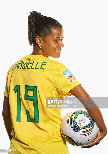 Grazielle of Brazil during the FIFA portrait session on June 26 2011 in Dusseldorf Germany