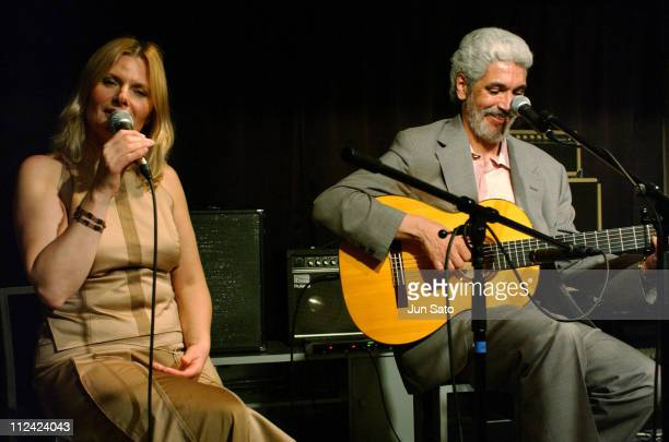 Grazyna Auguscik and Paulinho Garcia during Fujitsu Jazz Elite 2004 Three For Brazil Perform Live June 14 2004 at Bar Queen in Iwaki Japan