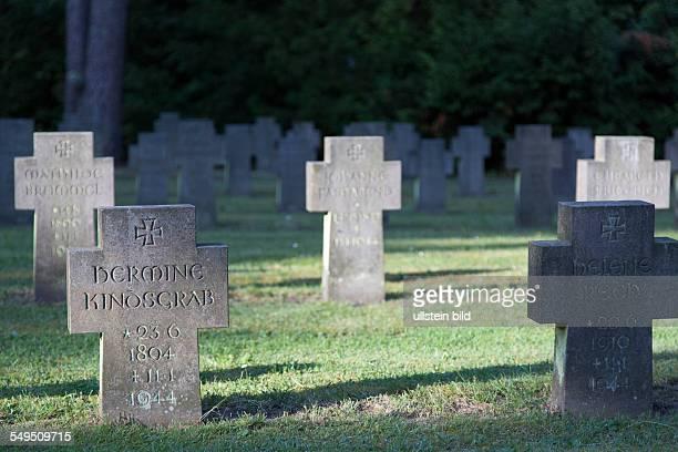 Gräber für die Opfer der Luftangriffe im Zweiten Wewltkrieg auf dem Sennefriedhof in Bielefeld