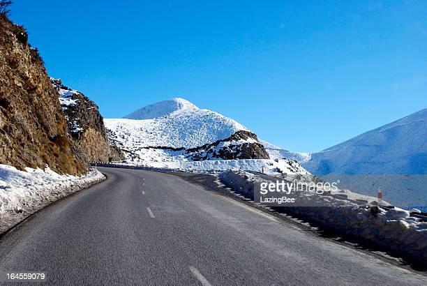 Great Alpine Highway Snowscene, New Zealand