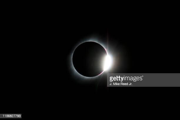 great american eclipse of 2017 - diamond ring - sloppy joe, jr imagens e fotografias de stock