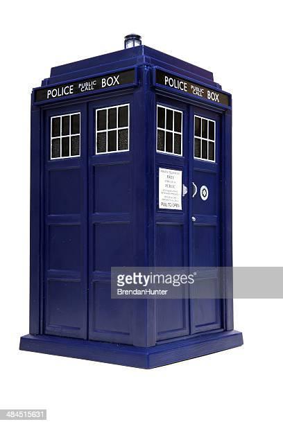 素晴らしい、神秘的なブルーのボックス - ドクター フー ストックフォトと画像