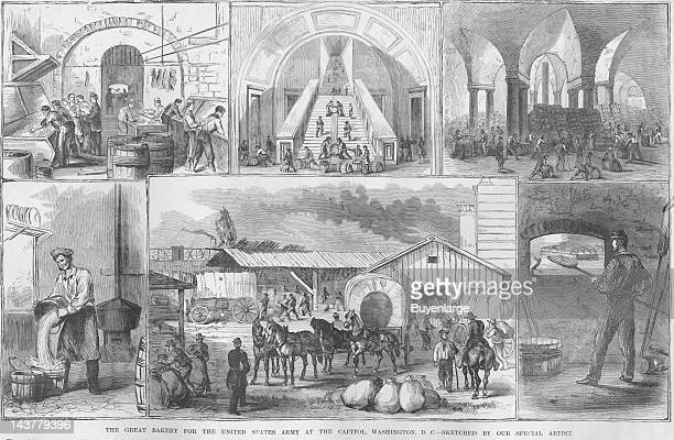 Great Bakery in Washington DC Washington DC 1861 From an issue of Frank Leslie's Illustrated Almanac