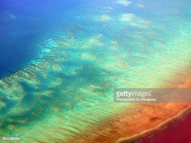 great barrier reef - great barrier reef aerial stock pictures, royalty-free photos & images