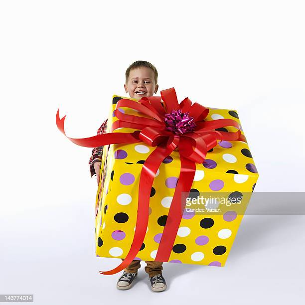 great big gift on white - gandee stock pictures, royalty-free photos & images