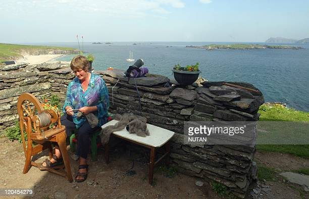Great Blasket Island Ireland Sue Radican is a weaver who lives in the Blaskets during the summer