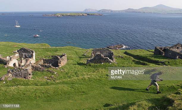 Great Blasket Island Ireland The island was evacuated in 1953 when their number decreased to a point where they could no longer survive as a separate...