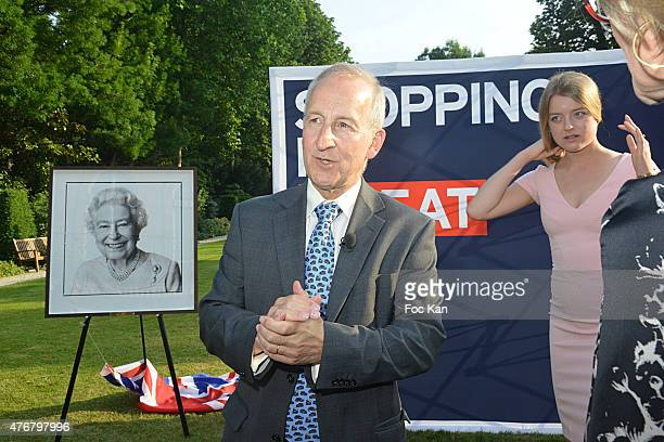 Great Britain ambassador Sir Peter Ricketts and Flora Alexandra Ogilvy from the Royal Family attend the British 'Summer Time 2015' cocktail at the...