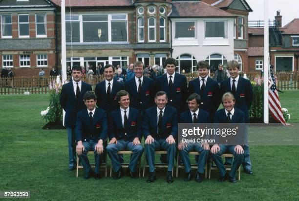 Great Britain and Ireland line up during the Walker Cup Match 1983 between Great Britain and Ireland and the USA held on May 26 1983 at the Hoylake...