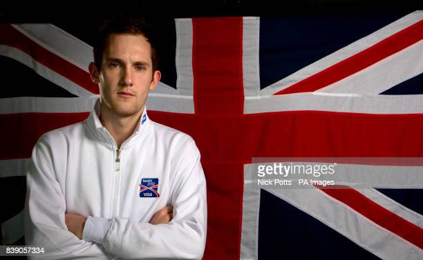 Great Britain badminton player Andy Ellis during the photocall at the Velodrome in the Olympic Park London Over 30 London 2012 hopefuls came together...