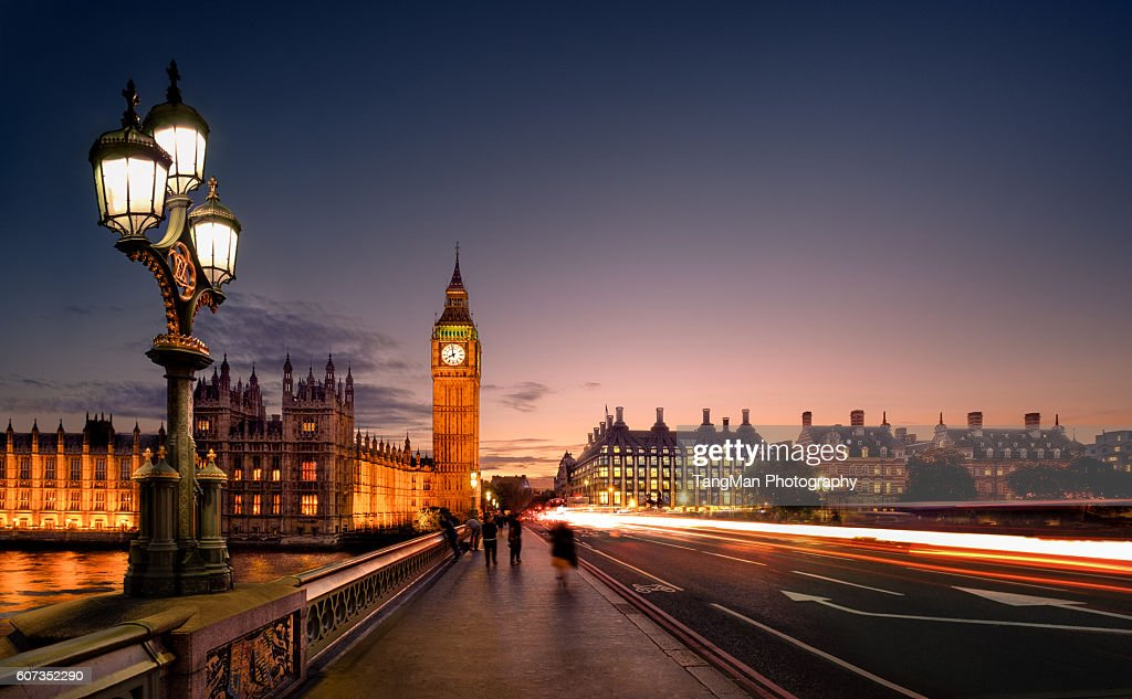 Great Britain - Big Ben, Parliament and Westminster Bridge : Stock Photo