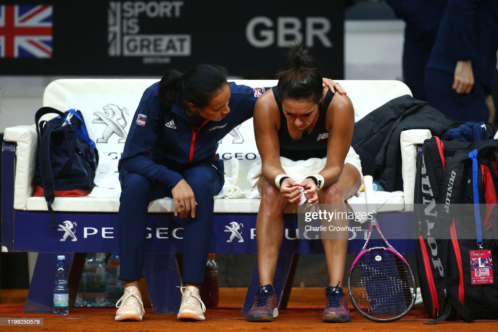 Slovakia v Great Britain - Fed Cup: Day 1 : News Photo