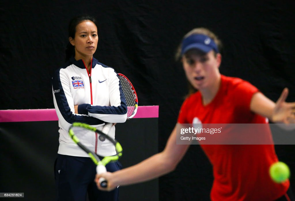 Great Britain v Portugal - Fed Cup : News Photo