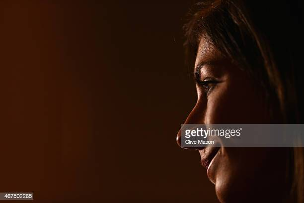 Great Britain Curling team member Eve Muirhead attends a press conference ahead of the Sochi 2014 Winter Olympics at the Main Press Center at on...