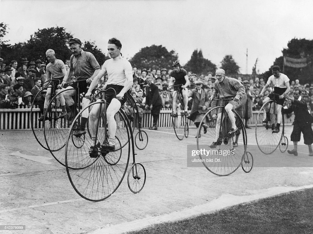 Great Britain England London Bicycles Penny Farthing Bicycle Race