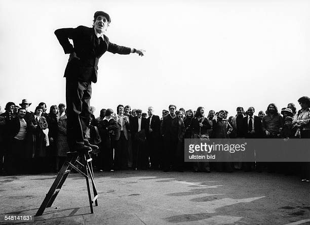 Great Britain England London Man talking to his audience at Speakers' Corner in Hyde Park 1978 Photographer Rudolf Dietrich Vintage property of...
