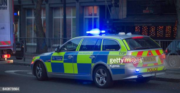uk, great britain, england, london, view of police car - vereinigtes königreich stock-fotos und bilder