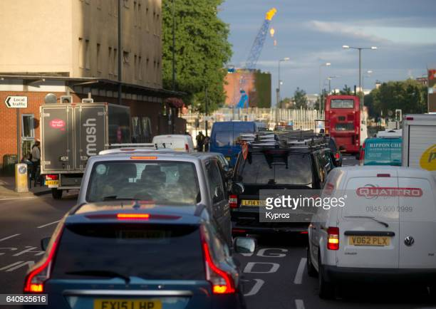 UK, Great Britain, England, London, View Of Traffic Jam