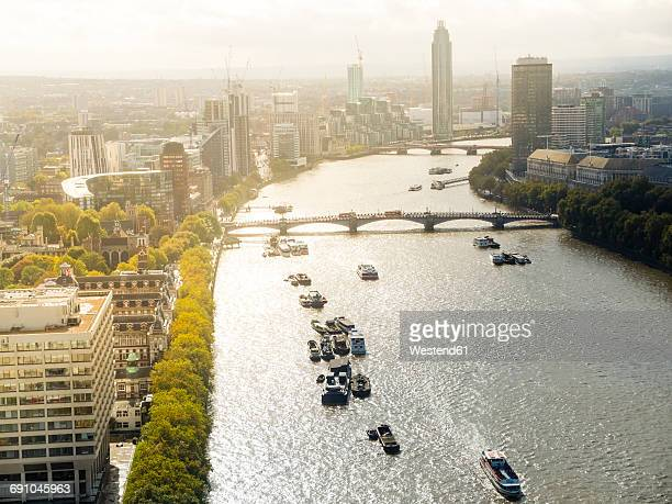 great britain, london, view of the city - river thames stock pictures, royalty-free photos & images