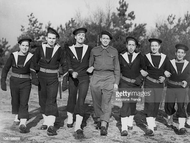 Great Britain New Recruits For The Free French Fighting Navy In 1942