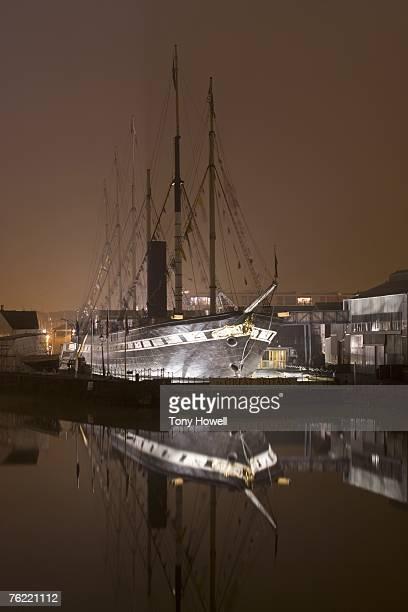 SS Great Britain, Night, Fog, Bristol, England, UK