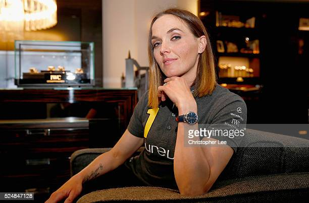 Great Britain Olympic Gold medalist Victoria Pendleton wearing the Portofino 37 Edition 'Laureus Sport for Good Foundation' IWC watch poses for the...