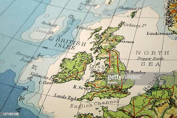 great britain - maps stock photos and pictures