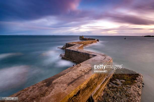 great britain, scotland,  fife, sunset - jetty stock pictures, royalty-free photos & images
