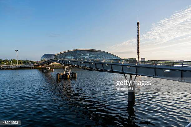 Great Britain, Scotland, Glasgow, River Clyde, bridge, Glasgow Science Centre