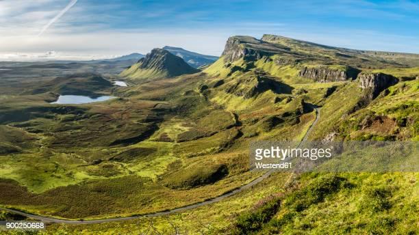 Great Britain, Scotland, Isle of Skye, Mountain pass near Quiraing