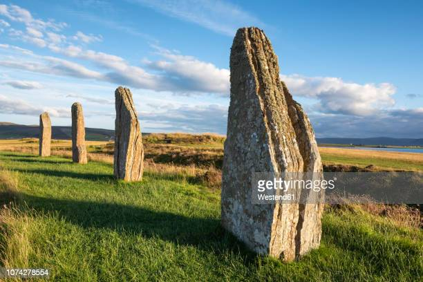 Great Britain, Scotland, Orkney, Mainland, Ring of Brodgar, neolithic stone circle