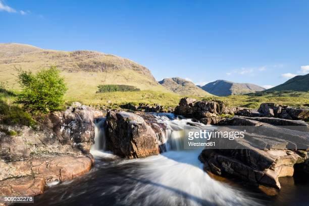 Great Britain, Scotland, Scottish Highlands, Glen Coe, Glen Etive, River Etive, River Etive Falls