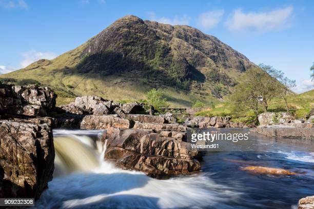 Great Britain, Scotland, Scottish Highlands, Glen Etive, River Etive, River Etive Falls