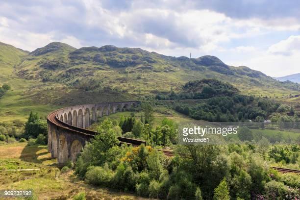 Great Britain, Scotland, Scottish Highlands, Glenfinnan, Glenfinnan Viaduct