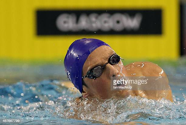 Great Britain swimmer and Olympic Silver medalist Michael Jamieson takes part in a training session prior to the Duel In The Pool at Tollcross...