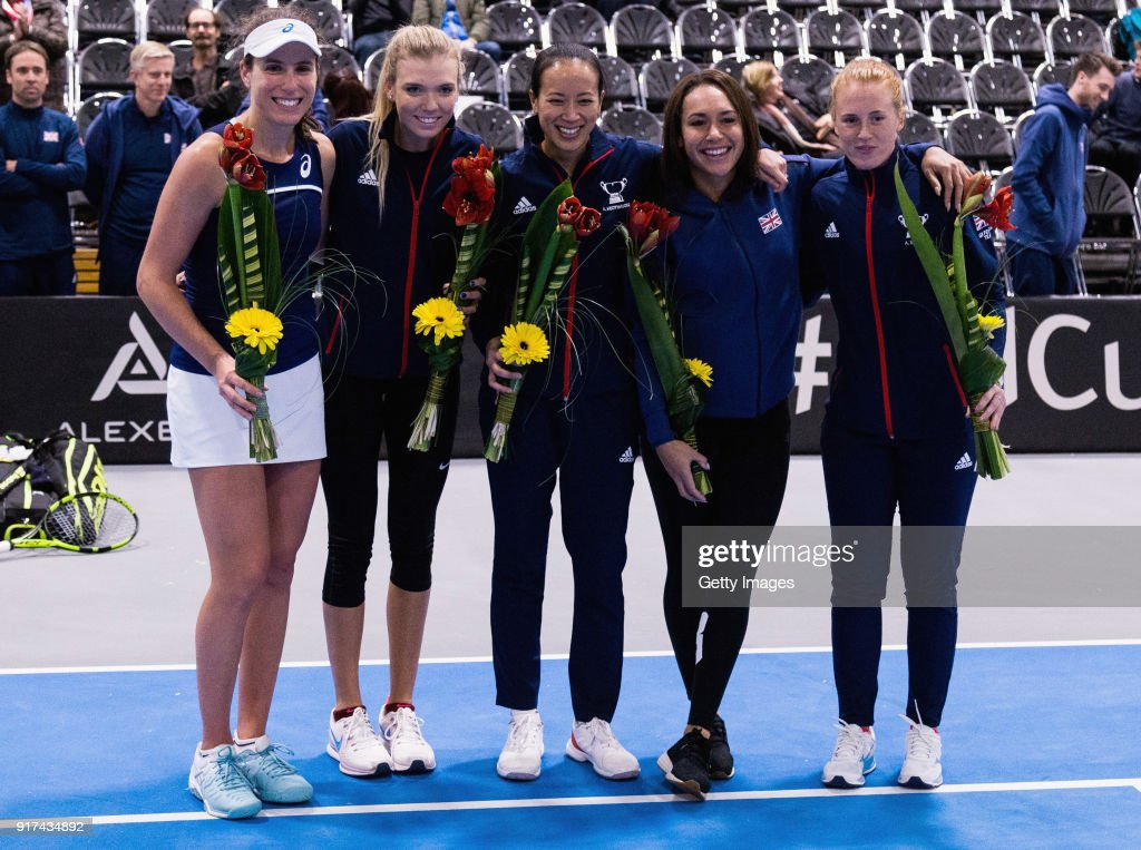 Great Britain v Hungary - Fed Cup by BNP Paribas : News Photo