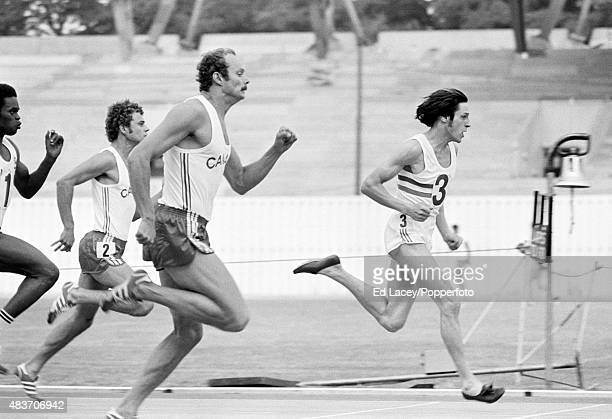 Great Britain track athlete Allan Wells in action at Crystal Palace in London circa 1976