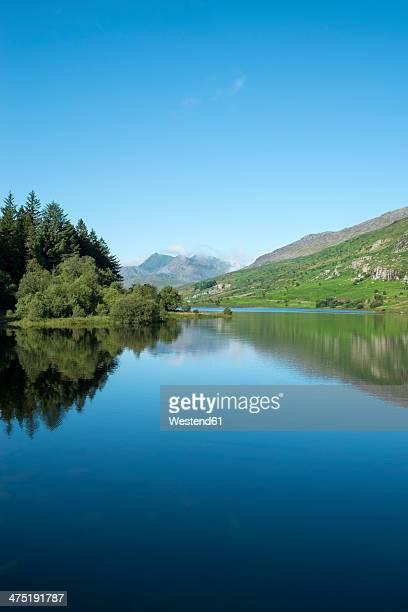 Great Britain, Wales, Lake Llynnau Mymbyr in Snowdonia National Park