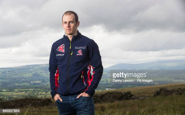 Great Britain Winter Olympics athlete Dave Ryding poses for a picture during the photocall at Pendle Ski Club