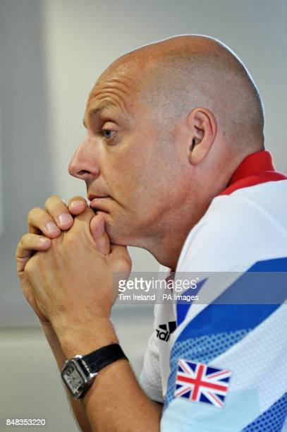 Great Britain's coach Dave Brailsford speaks during a press conference in Surrey ahead of the London 2012 Olympic Games