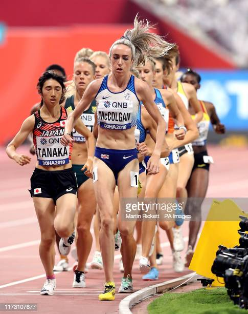 Great Britain's Eilish McColgan in action on her way to qualifying from her Women's 5000m heat during day six of the IAAF World Championships at The...