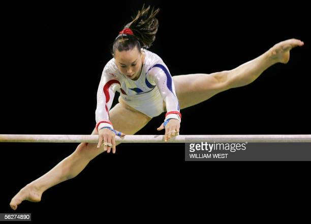 Great Britain's Elizabeth Tweddle goes through her routine on the way to winning bronze in the Women's Uneven Bars at the 38th Artistic Gymnastics...