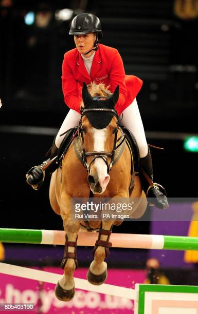 Great Britain's Ellen Whitaker on Kanselia during The Dick Turpin Stakes during the Horse of the Year Show 2009 at the NEC in Birmingham