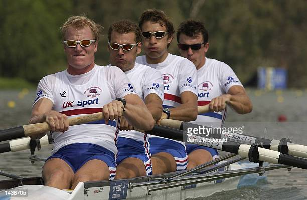 Great Britain's Four SemiFinal Stephen Williams Joshua West Toby Garbett and Richard Dunn in action during the FISA World Rowing Championships held...